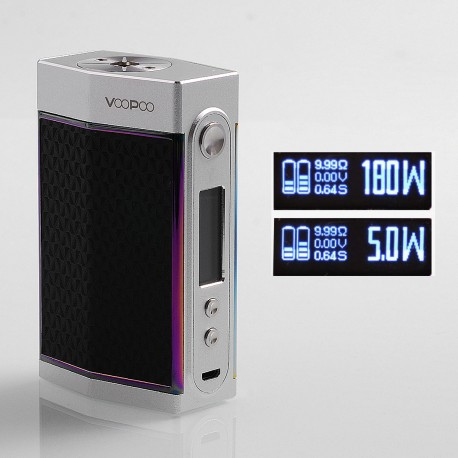 Authentic Voopoo TOO 180W TC VW Variable Wattage Box Mod - Ditch Dark + Silver, 5~180W, 1 / 2 x 18650