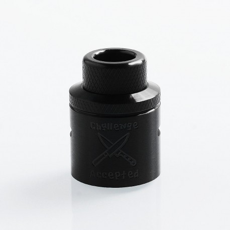 Authentic Hellvape Butcher Challenge Cap for 24mm Dead Rabbit RDA - Black, Stainless Steel