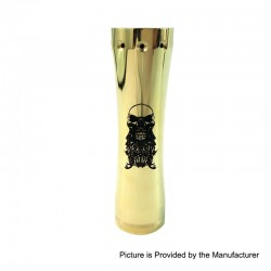 Kindbright Complyfe Takeover Style Hybrid Mechanical Mod - Brass, Brass, 1 x 18650