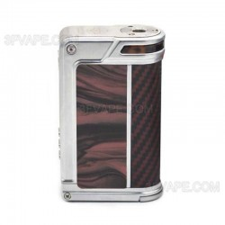 Authentic Lost Vape Paranormal DNA250C 200W TC VW Mod - Silver + Scarlet Passion + Red Black Kevlar, 1~200W, 2 x 18650