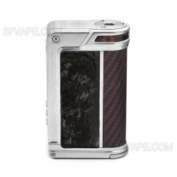 Authentic Lost Vape Paranormal DNA250C 200W TC VW Box Mod - Silver + Chopped Carbon Fiber + Red Black Kevlar, 1~200W, 2 x 18650