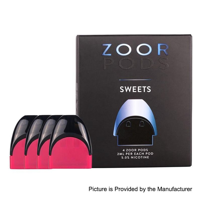 Authentic Zoor 2ml 5mg Sweets Pods For Zoor Portable Device