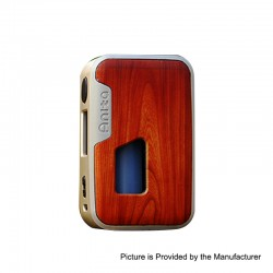 Authentic Arctic Dolphin Anita 100W TC VW Squonk Box Mod - Silver Frame + Red Wood Grain, 5~100W, 1 x 18650 / 20700 / 21700