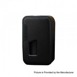Authentic Arctic Dolphin Anita 100W TC VW Squonk Box Mod - Black Frame + Black Leather, 5~100W, 1 x 18650 / 20700 / 21700