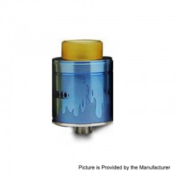Authentic Arctic Dolphin Blaze RDA Rebuildable Dripping Atomizer w/ Bf Pin - Blue, Stainless Steel, 24mm Diameter