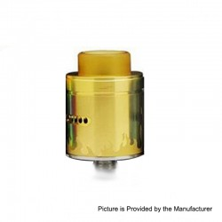 Authentic Arctic Dolphin Blaze RDA Rebuildable Dripping Atomizer w/ Bf Pin - Gold, Stainless Steel, 24mm Diameter