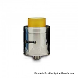 Authentic Arctic Dolphin Blaze RDA Rebuildable Dripping Atomizer w/ Bf Pin - Silver, Stainless Steel, 24mm Diameter