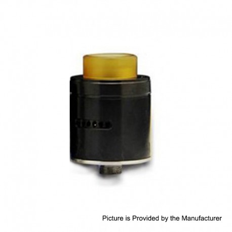 Authentic Arctic Dolphin Blaze RDA Rebuildable Dripping Atomizer w/ Bf Pin - Black, Stainless Steel, 24mm Diameter