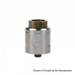 Authentic Wismec Guillotine V2 RDA Rebuildable Dripping Atomizer w/ Bf Pin - Green Resin, Stainless Steel, 24mm Diameter