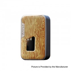 Authentic Arctic Dolphin Anita 100W TC VW Squonk Box Mod - Grey Frame + Yellow Wood Grain, 5~100W, 1 x 18650 / 20700 / 21700
