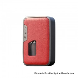 Authentic Arctic Dolphin Anita 100W TC VW Squonk Box Mod - Grey Frame + Red Leather, 5~100W, 1 x 18650 / 20700 / 21700