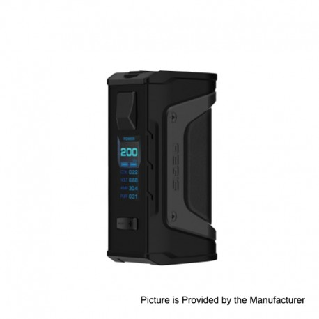 Authentic GeekVape Aegis Legend Mod 200W TC VW Variable Wattage Box Mod - Stealth Black, 5~200W, 2 x 18650