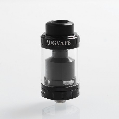 Authentic Augvape Merlin MTL RTA Rebuildable Tank Atomizer - Black, Stainless Steel, 3ml, 22mm Diameter