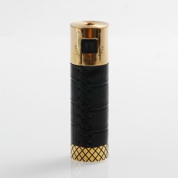 Authentic Marvec Magic Wand 90W Tube Mod - Black, Leather + Brass, 1 x 18650
