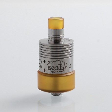 YFTK Paravozz Style RDTA Rebuildable Dripping Tank Atomizer - Silver, 316 Stainless Steel, 22mm Diameter