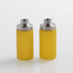 Authentic Wismec Replacement Bottom Feeder Bottle for Luxotic Squonk Box Mod / Kit - Yellow, Silicone, 7.5ml (2 PCS)