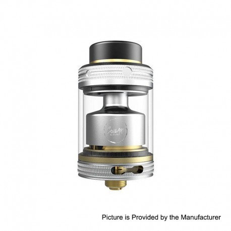 Authentic CoilART MAGE RTA V2 Rebuildable Tank Atomizer - Silver, Stainless Steel, 3.5ml, 24mm Diameter