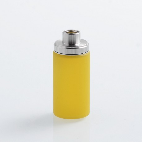 Authentic Wismec Replacement Bottom Feeder Bottle for Luxotic Squonk Box Mod - Yellow, Silicone, 7.5ml