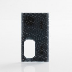Authentic Wismec Replacement Cover Panel for Luxotic Squonk Box Mod - Black Honeycomb, Resin