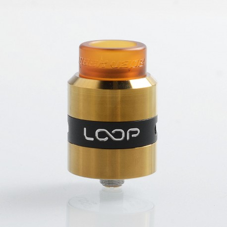 Authentic GeekVape Loop RDA Rebuildable Dripping Atomizer w/ BF Pin - Gold, Stainless Steel, 24mm Diameter