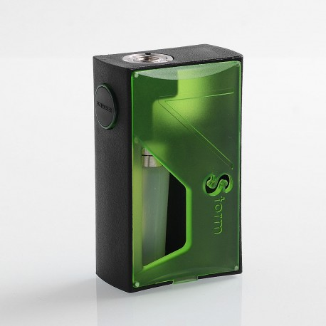 Authentic Vapor Storm Raptor 120W Squonk Mechanical Box Mod - Green, ABS, 1 x 18650 / 20700 / 21700, 5ml