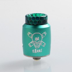 Authentic Blitz Ghoul RDA Rebuildable Dripping Atomizer w/ BF Pin - Green, Aluminum + Stainless Steel, 22mm Diameter