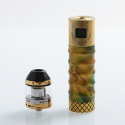 Authentic Marvec Magic Wand 90W Tube Mod + Sub Ohm Tank Kit - Random Color, Stabilized Wood + Brass, 1 x 18650, 2ml