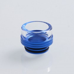 810 Replacement Drip Tip for TFV8 / TFV12 Tank / 528 Goon / Kennedy / Reload RDA - Blue, Glass + Stainless Steel, 13mm