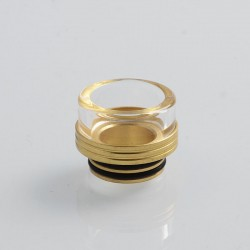 810 Replacement Drip Tip for TFV8 / TFV12 Tank / 528 Goon / Kennedy / Reload RDA - Gold, Glass + Stainless Steel, 13mm