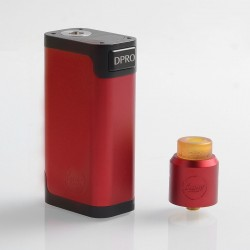 Authentic CoilART DPRO 133 Premium Kit with DPRO RDA - Red, 1 / 2 x 18650, 24mm Diameter