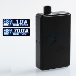 SXK BB Style 70W All-in-One Box Mod Kit - Black, Aluminum, 1 x 18650