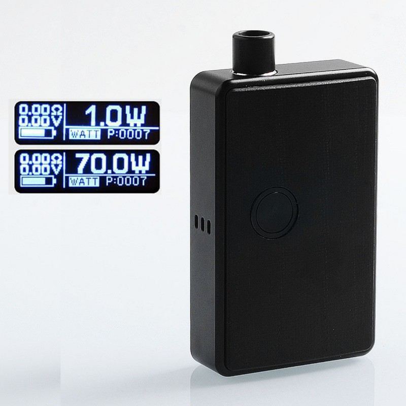 SXK BB Style 70W Black Aluminum 18650 All-in-One Box Mod Kit