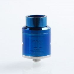 Goon Ti Style RDA Rebuildable Dripping Atomizer w/ BF Pin - Blue, 316 Stainless Steel, 24mm Diameter
