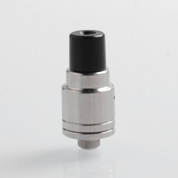 Vapeasy Magneto Style RDA Rebuildable Dripping Atomizer w/ BF Pin + Spare Top Caps - Silver, 316 Stainless Steel, 16mm Diameter