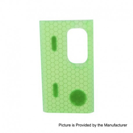 Authentic Wismec Replacement Cover Panel for Luxotic Squonk Box Mod - Green Honeycomb, Resin