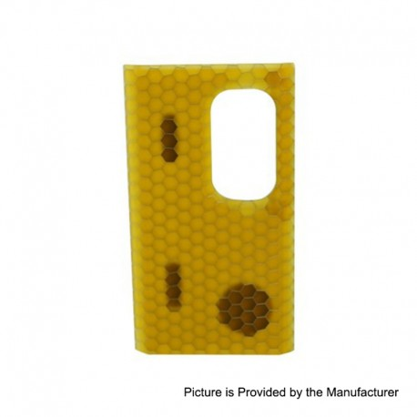 Authentic Wismec Replacement Cover Panel for Luxotic Squonk Box Mod - Yellow Honeycomb, Resin