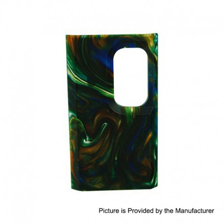 Authentic Wismec Replacement Cover Panel for Luxotic Squonk Box Mod - Swirled Metallic Resin, Resin
