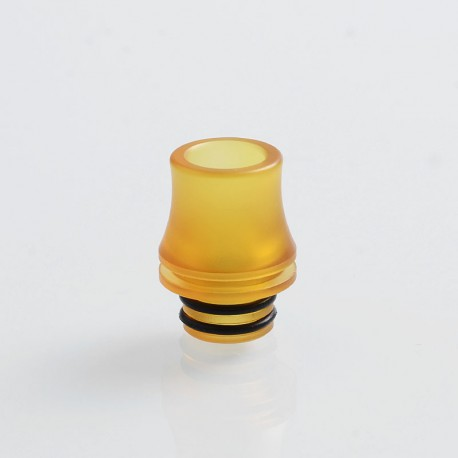 Coppervape Replacement 510 Wide Bore Drip Tip for Dvarw Style RTA - Yellow, PEI, 17mm
