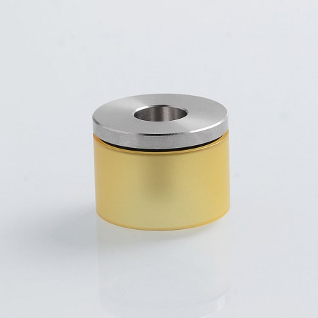 Coppervape Replacement Tank Tube + Top Chimney Kit for Dvarw Style RTA - Yellow + Silver, PEI + 316 Stainless Steel, 3.5ml