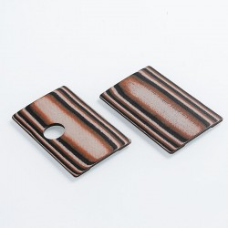 SJMY Replacement Front + Back Cover Panel for SXK BB Style Box Mod - Red + Black, G10 Fiberglass (2 PCS)