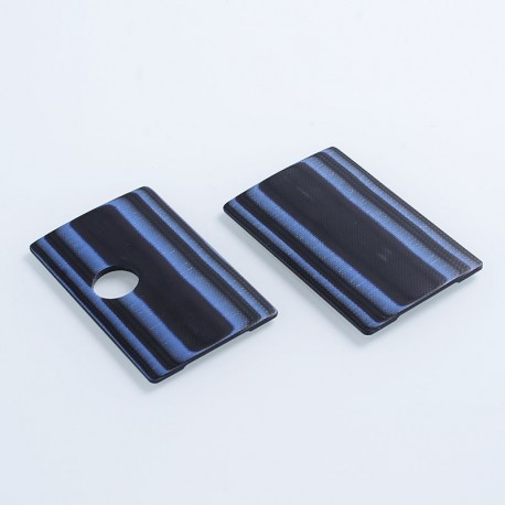SJMY Replacement Front + Back Cover Panel for SXK BB Style Box Mod - Blue + Black, G10 Fiberglass (2 PCS)