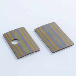 SJMY Replacement Front + Back Cover Panel for SXK BB Style Box Mod - Yellow + Grey, G10 Fiberglass (2 PCS)