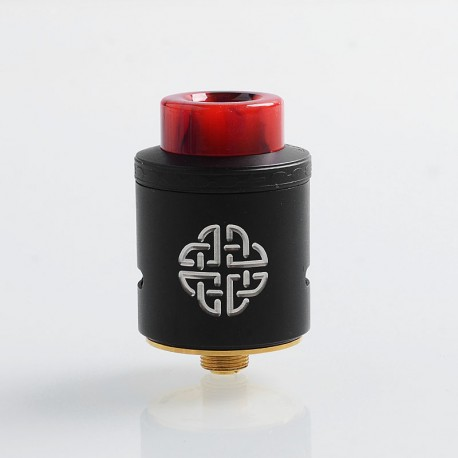 Authentic Hellvape Aequitas RDA Rebuildable Dripping Atomizer w/ BF Pin - Black, Stainless Steel, 24mm Diameter