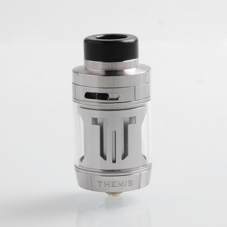 Authentic Digiflavor Themis RTA Rebuildable Tank Atomizer Dual Coil TPD Version - Silver, Stainless Steel, 2ml, 27mm Diameter