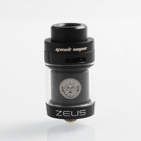 Authentic GeekVape Zeus Dual RTA Rebuildable Tank Atomizer Standard Edition - Black, Stainless Steel, 4ml, 26mm Diameter
