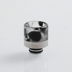 510 Replacement Drip Tip for RDA / RTA / Sub Ohm Tank Atomizer - Black, Resin + Stainless Steel, 18mm