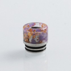 810 Replacement Drip Tip for TFV8 / TFV12 Tank / 528 Goon / Kennedy / Reload RDA - Purple, Resin + Stainless Steel, 15mm