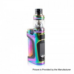 Authentic Eleaf iStick Pico S 100W TC VW Variable Wattage Box Mod + ELLO VATE Tank Kit - Rainbow, 1 x 18650 / 21700, 6.5ml