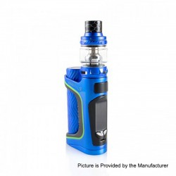 Authentic Eleaf iStick Pico S 100W TC VW Variable Wattage Box Mod + ELLO VATE Tank Kit - Blue, 1 x 18650 / 21700, 6.5ml