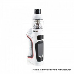 Authentic Eleaf iStick Pico S 100W TC VW Variable Wattage Box Mod + ELLO VATE Tank Kit - White, 1~100W, 1 x 18650 / 21700, 6.5ml